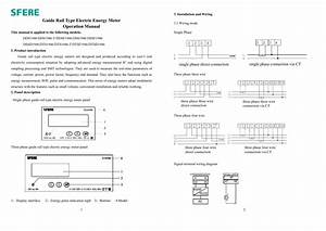 Guide Rail Type Electric Energy Meter Operation Manual