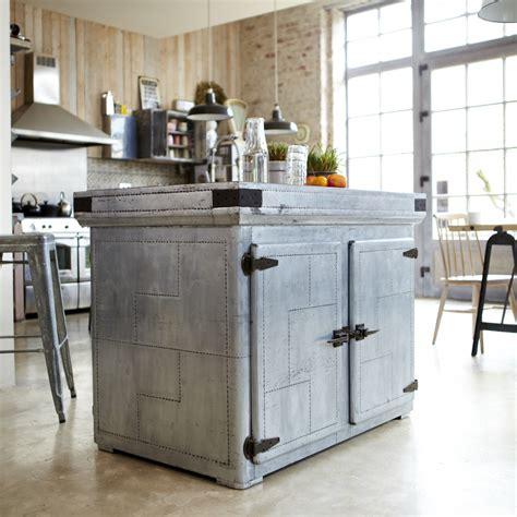 ilot cuisine sur roulettes ilot central en zinc toby vente ilot pour cuisine chez