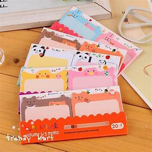 C283 South Korean Stationery Cute Cartoon N Paste Sticky ...