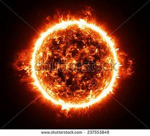 Burning Atmosphere Of Red Giant Star Stock Photo 237553849 ...