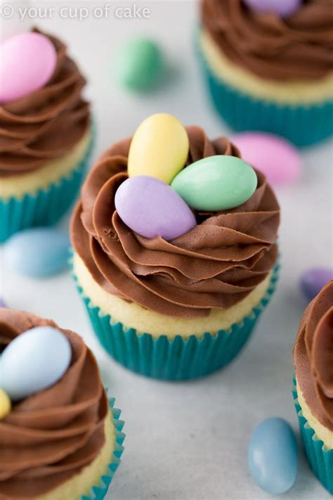 easy easter cupcakes nest cupcakes for easter an easy way to make a cute dessert your cup of cake the blog