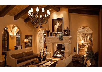 Spanish Villa Decor Elegant Luxury Traditional Fireplace