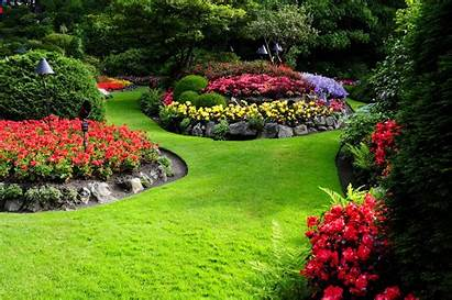 Garden Flowers Landscape Nature Landscaping Wallpapers Desktop