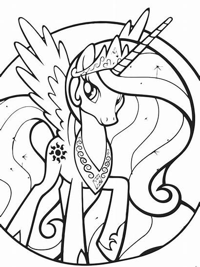 Coloring Celestia Princess Deviantart Popular