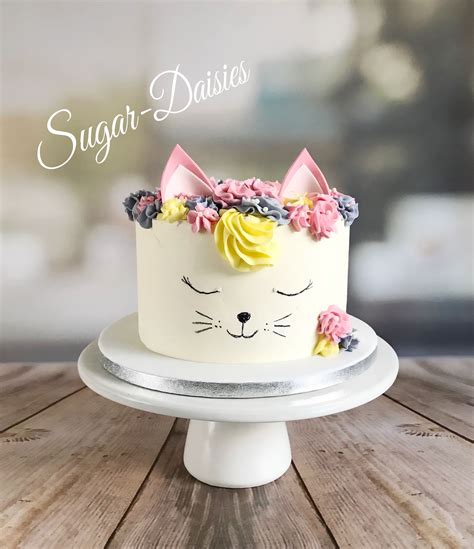 Yesterday was my birthday (24) and my friend verity made me this beauty of a cake. Buttercream cat cake | Birthday cake for cat, Girls birthday cakes easy, Buttercream cake designs