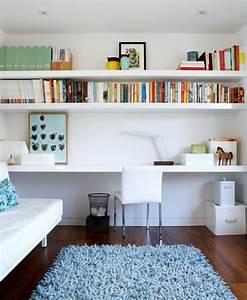 Bureau Avec étagère : bureau suspendu 25 exemples de petits meubles pratiques ~ Preciouscoupons.com Idées de Décoration