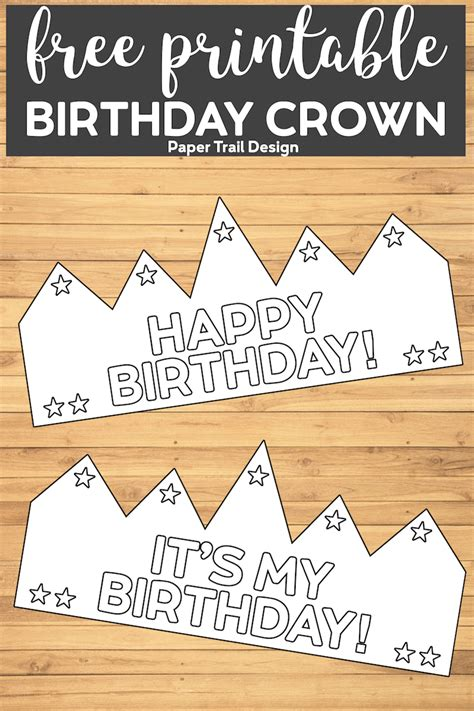 printable happy birthday crown paper trail design