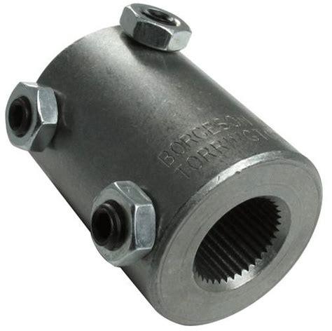 welded steel steering coupler fits   spline   double   ididit llc