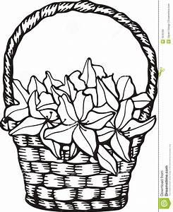 Bloemen mand vector illustratie. Illustratie bestaande uit ...