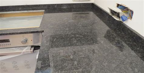 steel grey granite kitchen countertops and black