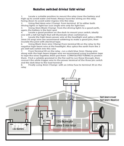shed tech driving light wiring diagrams