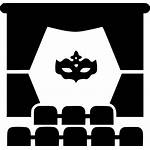 Icon Theatre Stage Actor Mask Curtain Svg