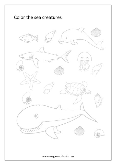 coloring sheets miscellaneous megaworkbook