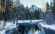 Yosemite National Park Mountains Snow