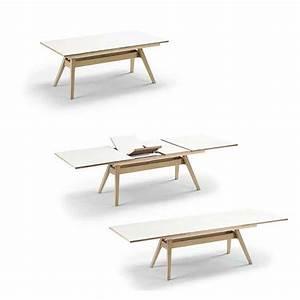 Table Scandinave Extensible : table en bois scandinave avec allonge 4 pieds tables chaises et tabourets ~ Teatrodelosmanantiales.com Idées de Décoration