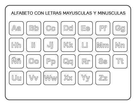 Moldes De Letras Mayusculas Y Minusculas Para Imprimir