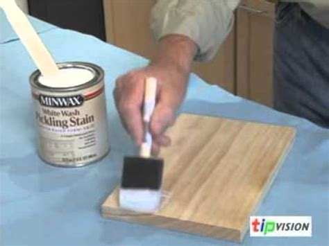 distressed white cabinets create a pickled finish on wood with minwax