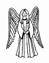 Coloring Pages Printable Angel Angels Sheet Drawing Line Simple Clipart Colorings Wings Clip Template Vector Getdrawings Disney Getcolorings Getcoloringpages Rocks sketch template