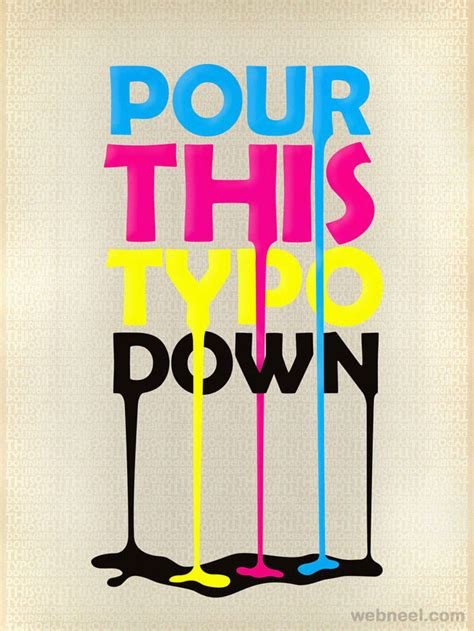 creative typography posters design examples