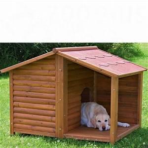 Hundehutte blockhaus natura mit terrasse gunstig bei zooplus for Hundehütte mit terrasse
