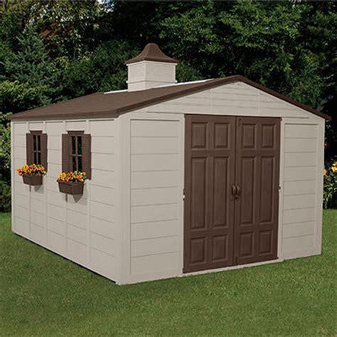 build outdoor shed suncast 174 storage building 10x12 1 2 138481 patio