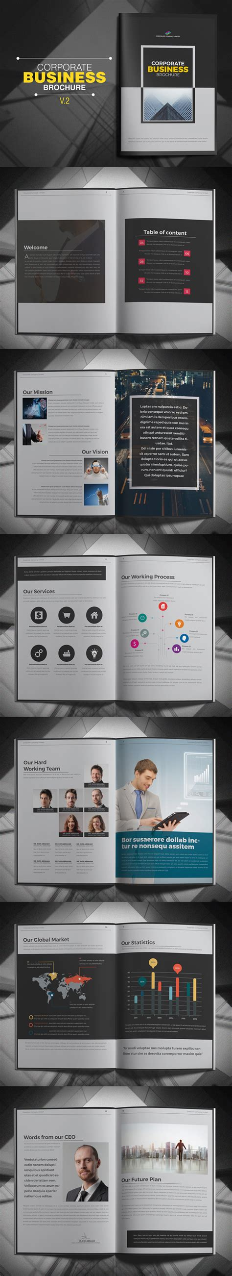Business Brochure Design Template 000439 Template Catalog New Catalog Brochure Design Templates Design Graphic