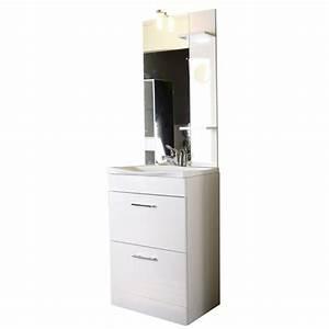 Meuble Vasque 60 Cm : meuble sous vasque 60 cm ensemble trinit gris laqu cm ~ Dailycaller-alerts.com Idées de Décoration
