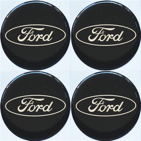 ford emblem schwarz 4 x ford emblem schwarz felgen aufkleber logo nabendeckel nabenkappe radkappe 4 x 56 mm teile
