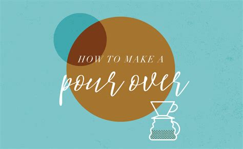 Then you can adjust for taste. Tips and Tricks: How to Make a Pour Over - Refreshing God's People