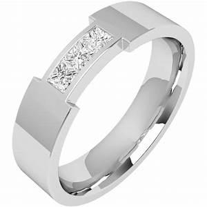 diamond ring diamond set wedding ring for men in 18ct With flat top mens wedding rings