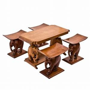 Suite Of African Teak QuotElephantquot Furniture At 1stdibs