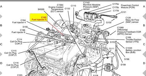 Ford 4 0l Engine Diagram Cyl by 2001 Ford Escape Engine Diagram Automotive Parts Diagram