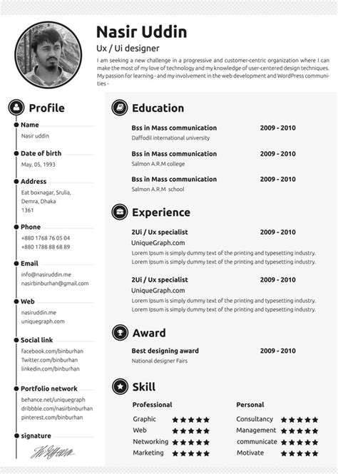 30 best free resume templates psd ai word docx formats