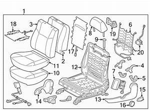 Toyota Tacoma Seat Back Cover  Driver Side Bucket Seat  W