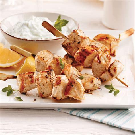 recette cuisine grecque brochettes de poulet à la grecque recettes cuisine et