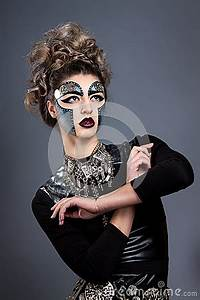 Woman With Makeup Steampunk Stock Photo Image 51082904