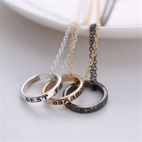 Friendship Rings For 3 Best Friend Forever Friendship Silver Gold 3 Piece Break