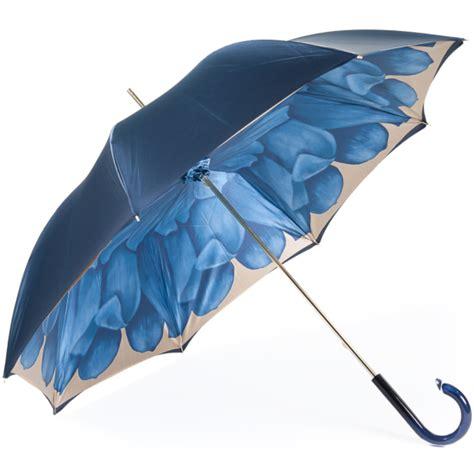 dahlia blue double canopy luxury ladies umbrella