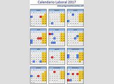 Calendario laboral y días festivos de 2017 Los mejores