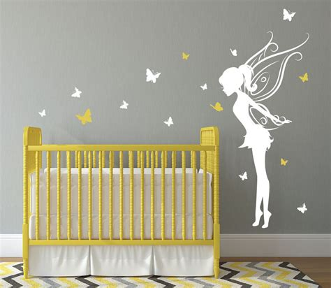 stickers papillon chambre bebe trendy room decor for baby bedroom with yellow