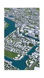 London City 3D Model 100km | FlippedNormals