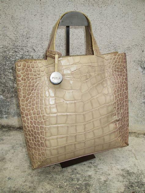 drayakeebag authentic furla croc leather totehandbagsold