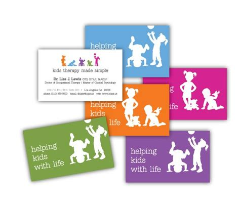 kids therapy  simple business cards child therapy