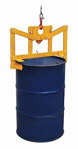 Grainger Approved Vertical Drum Lifter  Manual  1000 Lb