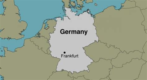 frankfurt germany map map  frankfurt  main hesse