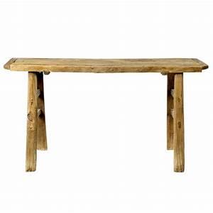 Table Haute Bois : table haute bois massif d 39 orme bureau bois ancien ~ Melissatoandfro.com Idées de Décoration
