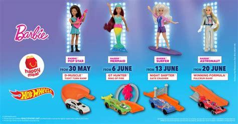 mcdonalds  barbie hot wheels happy meal toys