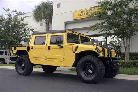 1999 Hummer H1 Right Front Yellow Truck Picture