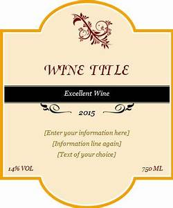 custom design wine label template word excel templates With create wine labels online