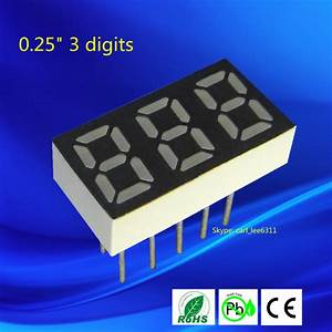 0 25 Inch Mini Seven Ultra Green 3 Digit Led 7 Segment 3